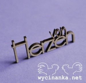 "inscription ""von Herzen"", 3 mm plywood"