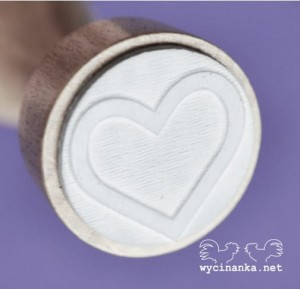 rubber stamp heart serduszko wz. 4