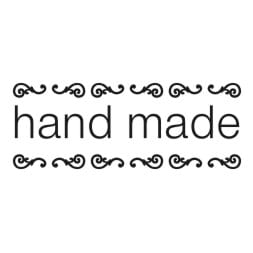 rubber stamp HAND MADE with ornament