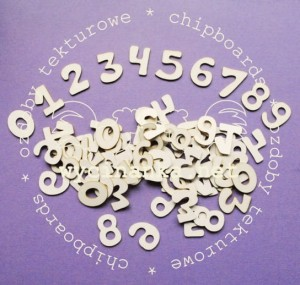 numbers, pattern 1; 2 cm, 10 pieces