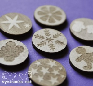 DECEMBER DIARY badges / buttons