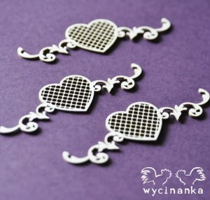 BEAUTIFUL WEDDING - openwork decors with hearts