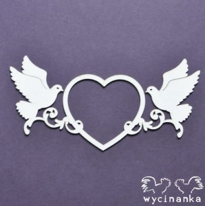 BEAUTIFUL WEDDING - decorative heart with pigeons