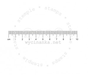 rubber stamp - Zentimeter