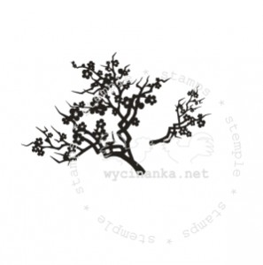 rubber stamps TWIG OF CHERRY BLOSSOMS