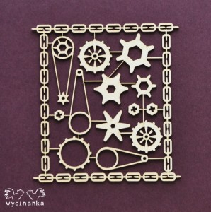AROUND THE STEAMPUNK - cogs in sheet